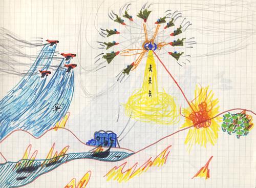 """Niarb il Giovane, """"Attacco alla Terra"""", Guggenheim Museum, New York"""