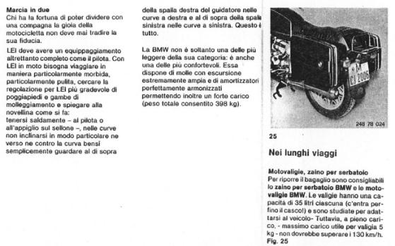Romantiche istruzioni BMW