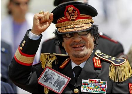 Gheddafi con foto
